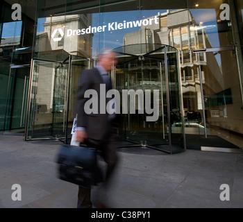 Exterior shot of Dresdner Kleinwort Bank, Gresham Street London. - Stock Photo
