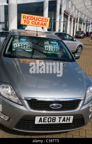 Motor Cars For Sale At Car Showroom Garage Stacked In