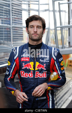Australian Formula One driver Mark Webber at Montmelo track in Barcelona, 2011 - Stock Photo