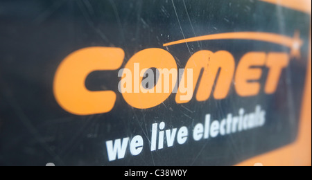 Illustrative image of a Comet branch, part of the Kesa Electricals group. Cambridge - Stock Photo