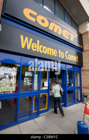 Illustrative image of a Comet branch, part of the Kesa Electricals group. Cambridge. - Stock Photo