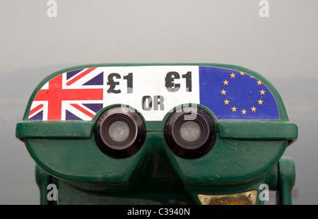 The Pound or Euro - Stock Photo
