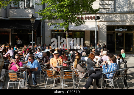 berlin germany open air cafes restaurants at hackescher markt stock photo royalty free. Black Bedroom Furniture Sets. Home Design Ideas