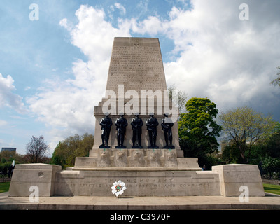 The Guards Division War Memorial erected in 1926 dedicated to the five Foot Guards Regiments of the Great War. - Stock Photo