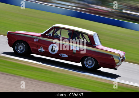 U2TC Pre-'66 Under 2-litre Touring Cars - Henry Mann, 1965 Ford Lotus Cortina Mk1 - Stock Photo