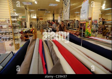 france, brittany (bretagne), finistere, quimper, shop interior - Stock Photo