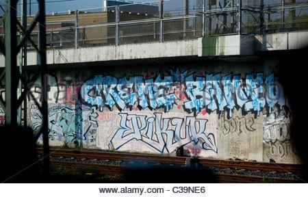 Graffiti Art - Munich Germany - Stock Photo