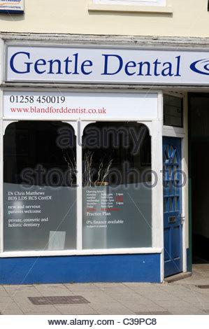 Gentle Dental, Dental practice, Blandford Forum, Dorset England - Stock Photo