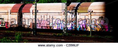 Graffiti Art artist creativity Germany - Stock Photo