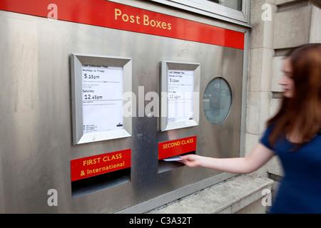 Royal Mail Post Box. - Stock Photo