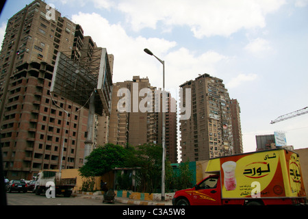 Cairo's residential apartment buildings. - Stock Photo