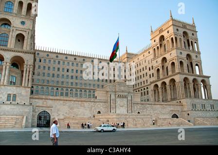 parliament in baku azerbaijan - Stock Photo