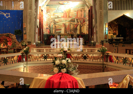 Israel, Lower Galilee, the Church of the Annunciation in Nazareth - Stock Photo