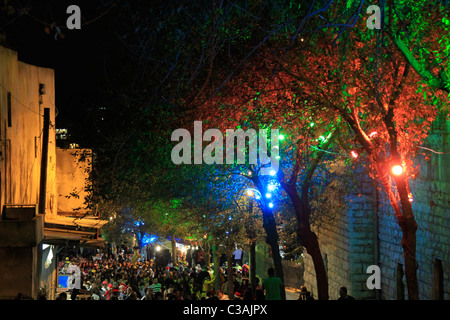 Israel, Lower Galilee, Christma in Nazareth - Stock Photo