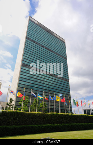 The United Nations Headquarters in New York CIty - Stock Photo