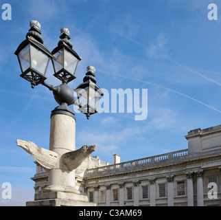 An ornate street lamp at the University of Greenwich, South East London, England. - Stock Photo