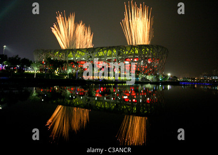 Opening Ceremoies 2008 Olympic Summer Games, Beijing, China - Stock Photo