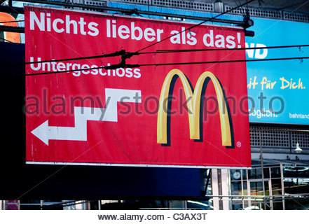 McDonalds Munich Germany - Stock Photo