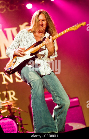 Mark Matejka of Lynyrd Skynyrd perform live at the Glasgow Clyde Auditorium, as part of their 'God & Guns' World - Stock Photo