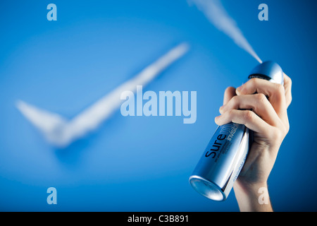 Illustrative image of Sure for Men Invisible deodorant. A Unilever brand. - Stock Photo