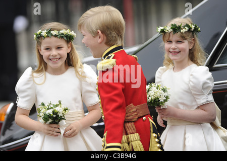 The Wedding of Prince William and Catherine Middleton. 29th April 2011   Bridesmaid Margarita Armstrong-Jones, page - Stock Photo