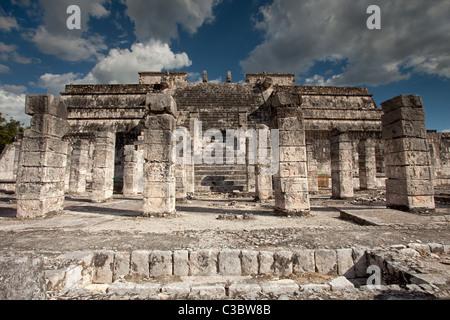 Chichen Itza: Maya Ruins: Temple of Thousand Warriors - Stock Photo