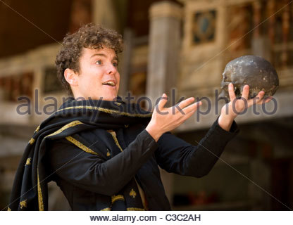 Hamlet by William Shakespeare.A Shakeapeare's Globe Touring Production directed by Dominic Dromgoole. - Stock Photo