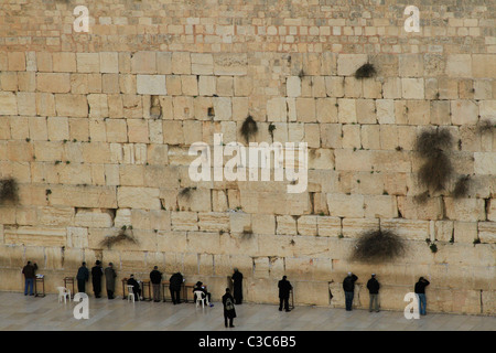 Israel, Jerusalem Old City, the Western Wall - Stock Photo
