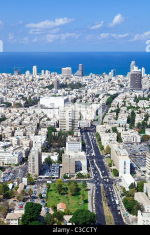Tel Aviv skyline / Aerial view of Tel Aviv - Stock Photo