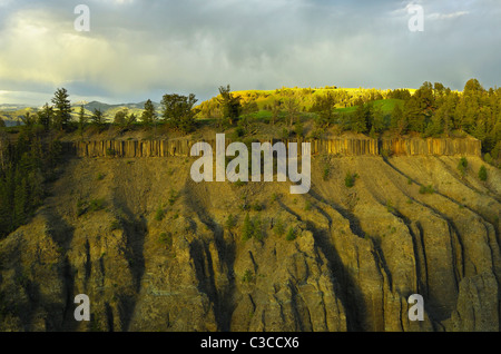 Yellowstome River canyon - Stock Photo