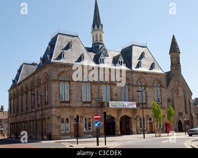 Town Hall, Market Place  Bishop Auckland, Co. Durham UK - Stock Photo