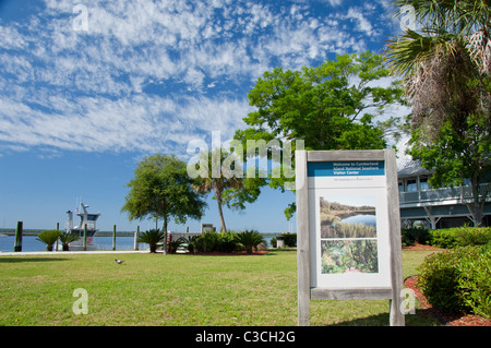 Georgia, St. Marys. Cumberland Island National Seashore Visitor's Center. - Stock Photo
