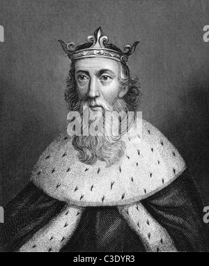 Henry I of England (1068-1135) on engraving from 1830. King of England during 1106-1135. Published in London by - Stock Photo