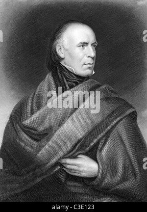 Allan Cunningham (1784-1842) on engraving from 1835. Scottish poet and author. Engraved by J.Thomson after a picture - Stock Photo
