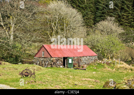 The Bull house at Auchindrain Township Open Air Museum in Argyll Scotland - Stock Photo