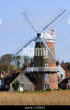 Norfolk's iconic windmill, Cley next the Sea, England - Stock Photo