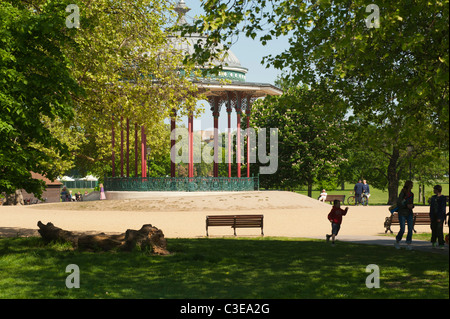 The bandstand in the middle of Clapham Common, in Lambeth, London, England, UK. - Stock Photo