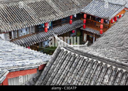 lijiang: house in dayan ancient town - Stock Photo