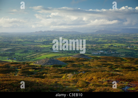 Carrowkeel Passage Tombs, which date from 3200-2400 BC, County Sligo, Ireland. - Stock Photo