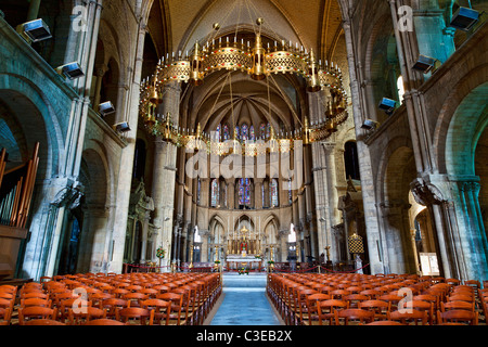 Reims, Saint remi Basilica, listed as World Heritage by UNESCO - Stock Photo