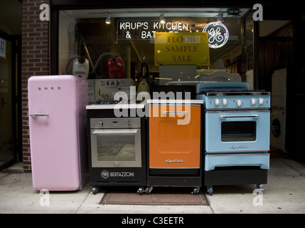 Display Of New Refrigerator Appliances In Store For Sale