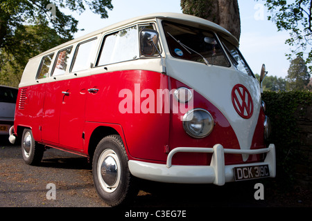 A Classic 1960's VW Campervan - Stock Photo