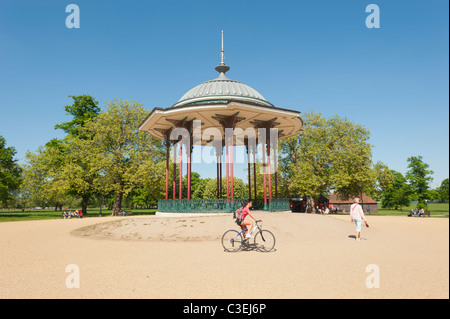 The Bandstand in the middle of Clapham Common, Lambeth, London, England, UK. - Stock Photo