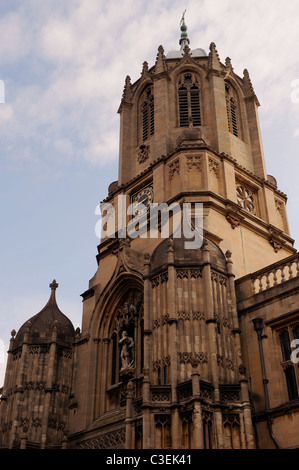 Old Tom tower, Christ Church college, Oxford - Stock Photo