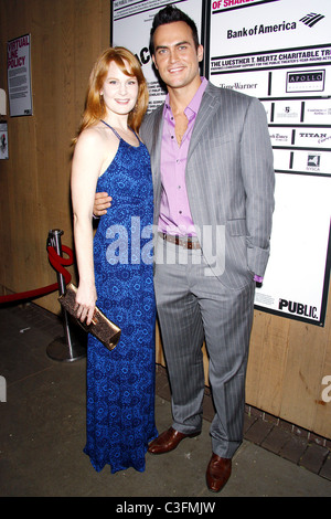 Kate Baldwin and Cheyenne Jackson from the upcoming Broadway musical 'Finian's Rainbow' Opening Night of 'The Bacchae' - Stock Photo
