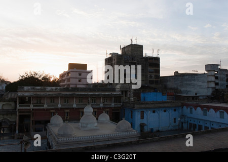 Buildings in a city, Ahmedabad, Gujarat, India - Stock Photo