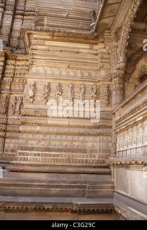 Details of carving in a temple, Swaminarayan Akshardham Temple, Ahmedabad, Gujarat, India - Stock Photo