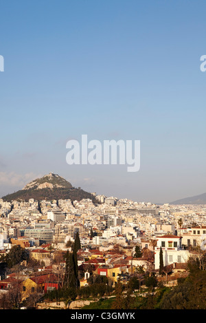 view of Athens from Acropolis, Greece - Stock Photo