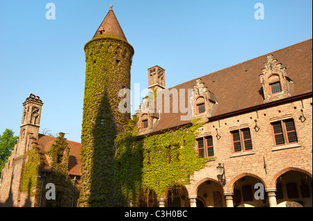 Gruuthuse museum, Courtyard, Historic centre of Bruges, Belgium - Stock Photo