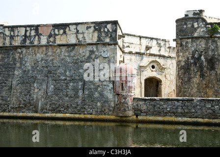Mexico. Veracruz city. Fort  San Juan de Ulua. 16th and 17th centuries. - Stock Photo